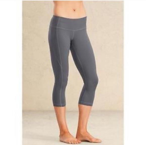 5e17fa2be6829 Athleta Pants | Grey Cropped Leggings | Poshmark
